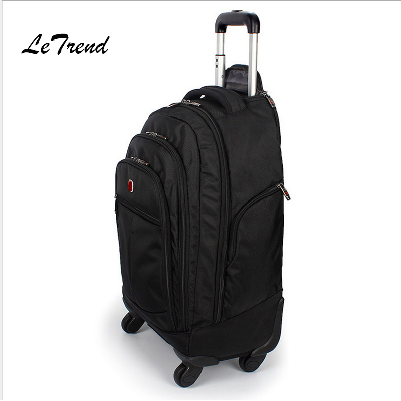 Letrend Large Capacity Travel Duffle Backpack Men Business Oxford Rolling Luggage Trolley Multifunction Carry On Suitcase WheelsLetrend Large Capacity Travel Duffle Backpack Men Business Oxford Rolling Luggage Trolley Multifunction Carry On Suitcase Wheels