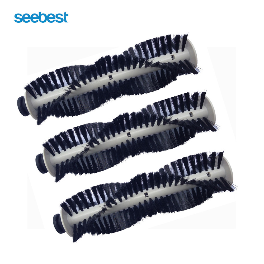 Seebest Robot Vacuum Cleaner Spare Parts Main Brush with Hair 3pcs for C565,C571,C561