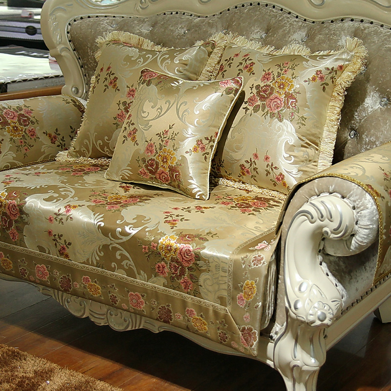 Pastoral European Style Vintage Embroidered Sofa Cover Towel / Top Quality  Polyester Blend Fabric Luxury Slipcover
