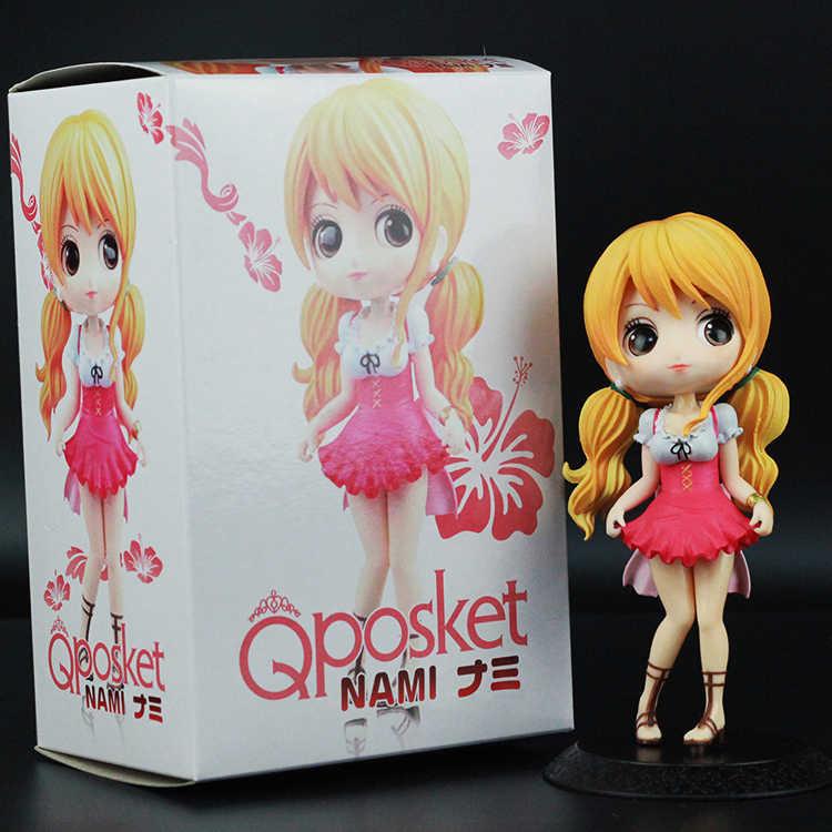 QPosket Bonito olhos Grandes Anime One Piece Nami & Koala Linda Bonecas Figura Brinquedos Modelo 14 centímetros Presente para a menina