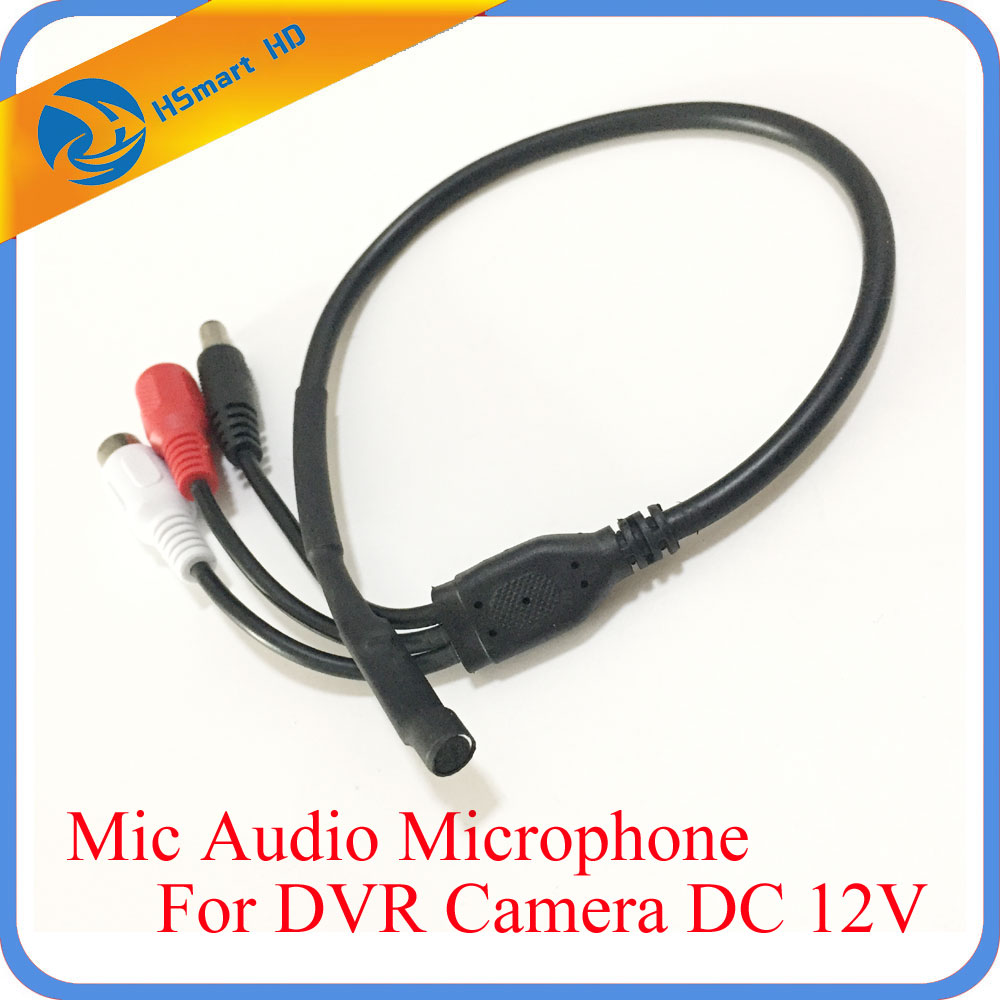 New High Sensitive Audio CCTV Microphone Wide Range Camera Mic Audio Mini Microphone With DC 12V Output for CCTV Security DVR audio pick up cctv microphone wide range camera mic audio mini microphone for cctv security dvr