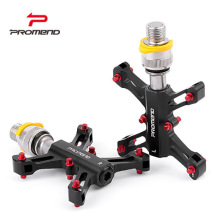 PROMEND Quick Release Bicycle Pedals Ultra-light Aluminum Alloy Mountain Bike Pedal Mtb 3 Bearings Flat Pedals Cycling Parts origina pasak ts890 29 aluminum alloy mountain bike frame bicycle frame hurricane ultra light mtb bike 15171700g 3 colors