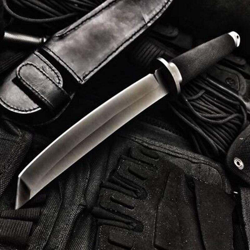 Hohe Härte Feste Klinge Taktisches Messer Outdoor Armee Jagd Messer Überleben Getriebe Gerade Messer Kampf Katana Camping Werkzeuge