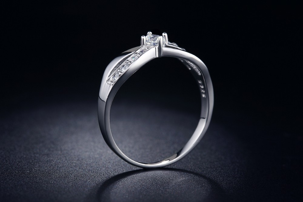 White Gold Plated Infinity Ring