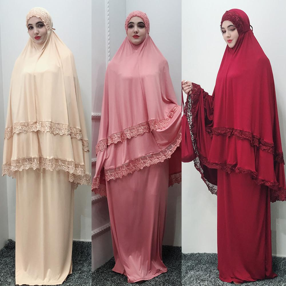 Abaya dubaï turquie Islam Hijab musulman Robe ensemble Caftan Abayas pour les femmes Jilbab Caftan prière vêtements Ramadan Elbise Robe Femme