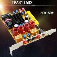 Placa de amplificador de potência digital de ALTA FIDELIDADE DIY TPA3116D2 high power mini 2.0 placa de amplificador de potência