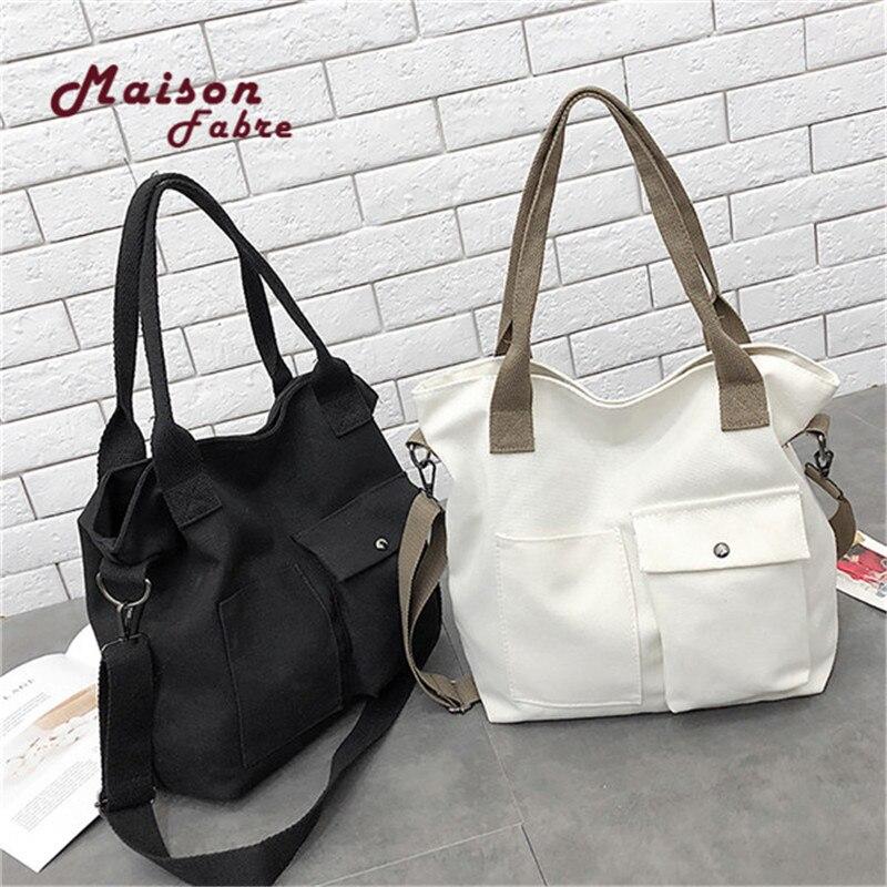 B-Maison Fabre Handbags Literary Simple Ladies Messenger Bags For Women 2019 Handbags Canvas Bag