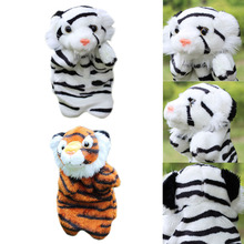 Tiger Hand Puppet PP Cotton Lining Magic Forest Series Cartoon Animals Baby Kids Child Soft Doll Plush Toys Hand Puppet