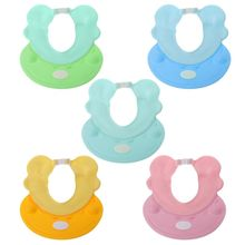 Adjustable Baby Shower Cap Shampoo Bath Wash Hair Shield Hat Protect Children Kid Waterproof Prevent Water Into Ear for Child цена 2017