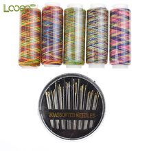 6 Pcs/Set Pratical Colorful Sewing Threads and Needles For Women Mom Embroidery Tools DIY Craft Accessories