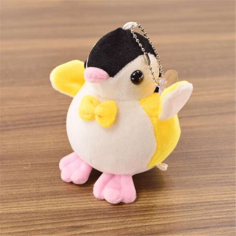 1PCS Mini Penguin Plush Toys Pendant Keychain Cartoon Penguins Stuffed Toy Doll Bag Jewelry For Kids Hot Sale 10CM HANDANWEIRAN in Stuffed Plush Animals from Toys Hobbies
