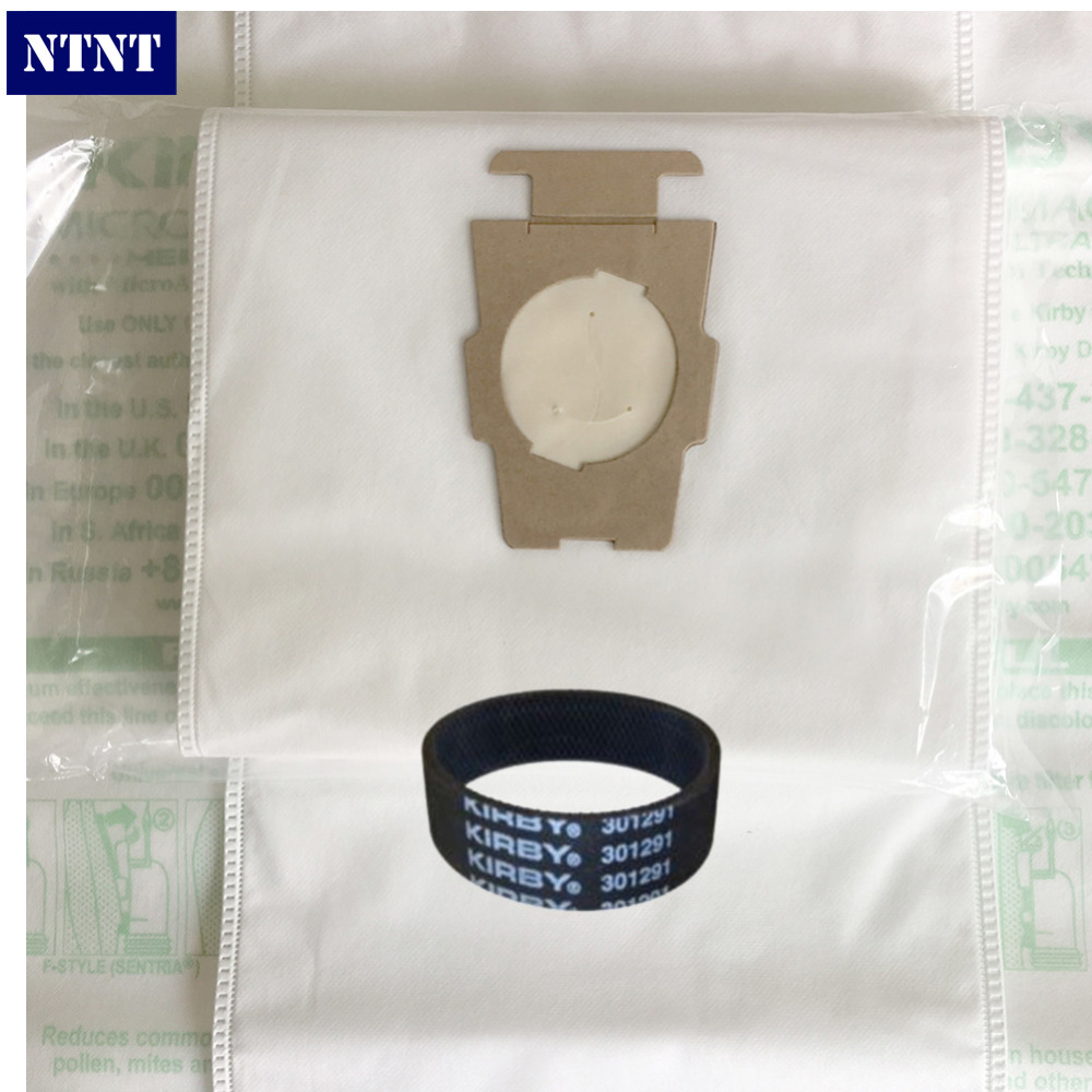 NTNT 6Pcs Dustbag 1*Belt Kirby Universal Bag suitable for Kirby Universal Hepa Cloth Microfiber dust Bags for KIRBY Sentrial F/T 1 pcs for kirby sentrial f t dust bag for kirby universal bag suitable for kirby universal hepa cloth microfiber dust bags