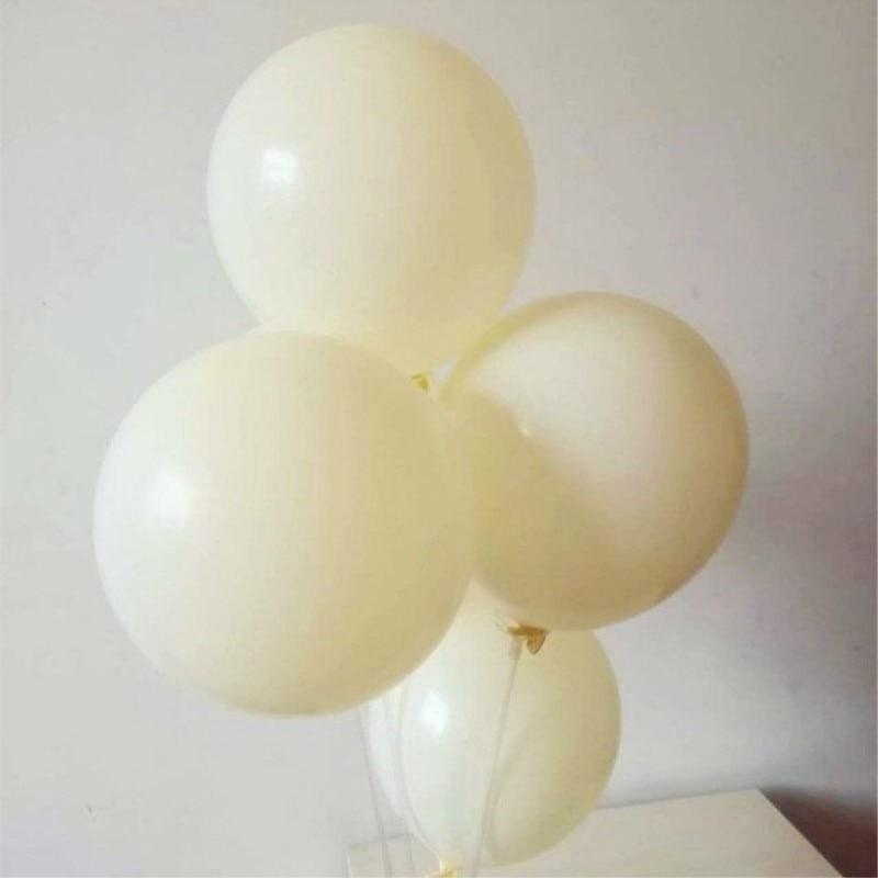 Elfenbein weiß ballon 50 teile//los 12 zoll dicken 3,2g runde latex ballons geburtstag party dekorationen erwachsene hochzeit luftballons kinder spielzeug