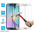 Screen Protector Tempered Glass Curv Full Cover Case for Samsung Galaxy S6 S7 Edge Plus Film Front Back Coverage Verre Trempe
