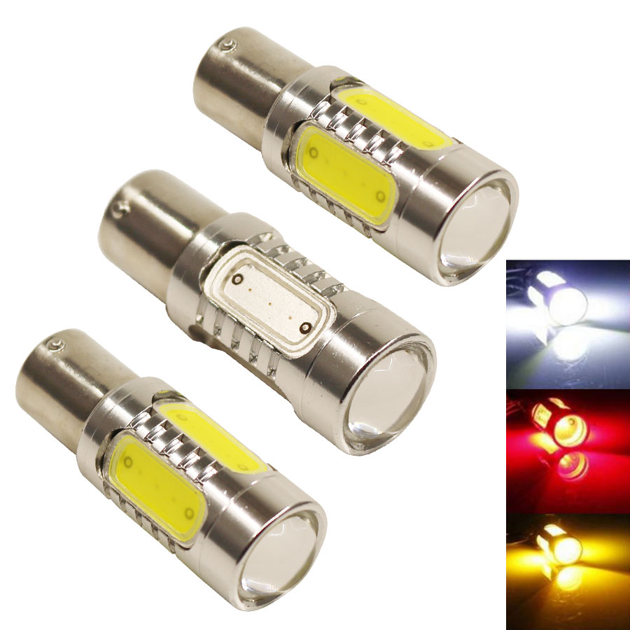 7.5W LED COB 1156 BA15S P21W White/Red/Yellow light Reverse Light Car Auto Turn Signal Lights Backup Reverse Bulb Replace Lamp 2x 12v 24v auto car led light ba15s 1156 p21w led 50 smd 50smd high quality turn signal light bulb turn lamp white yellow red