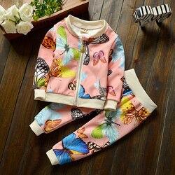 2015 new Baby meninas define vestuário crianças hoodies primavera outono roupas definir crianças desporto treino set do bebê t-shirt + calças 2 Pcs