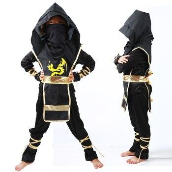 Los niños de Halloween Cosplay Hokage traje para niños Ninja asesino Navidad ropa Casual con capucha traje de bebé chico ropa 3-8Y