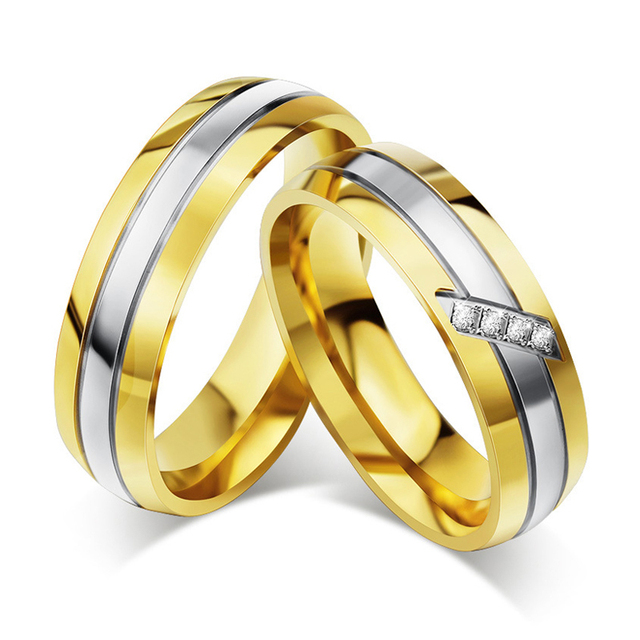 classic wedding rings for men women fashion wholesale jewelry engagement rings set a pair lovers matching - Classic Wedding Rings