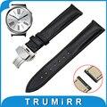 18mm pulseira de couro genuíno alça de liberação rápida para huawei watch/fit honor s1 borboleta fivela banda correia de pulso pulseira
