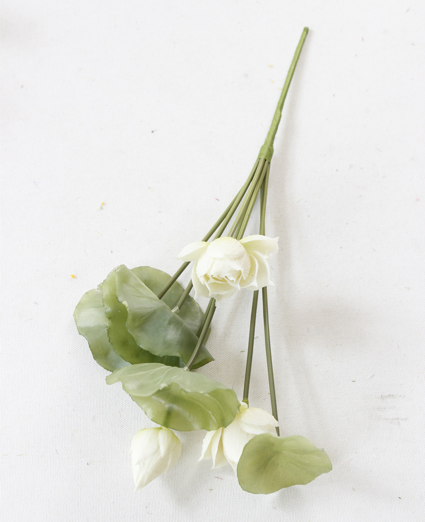 Simulation Silicone Flowers Artificial Fake Lotus Flower Bouquet