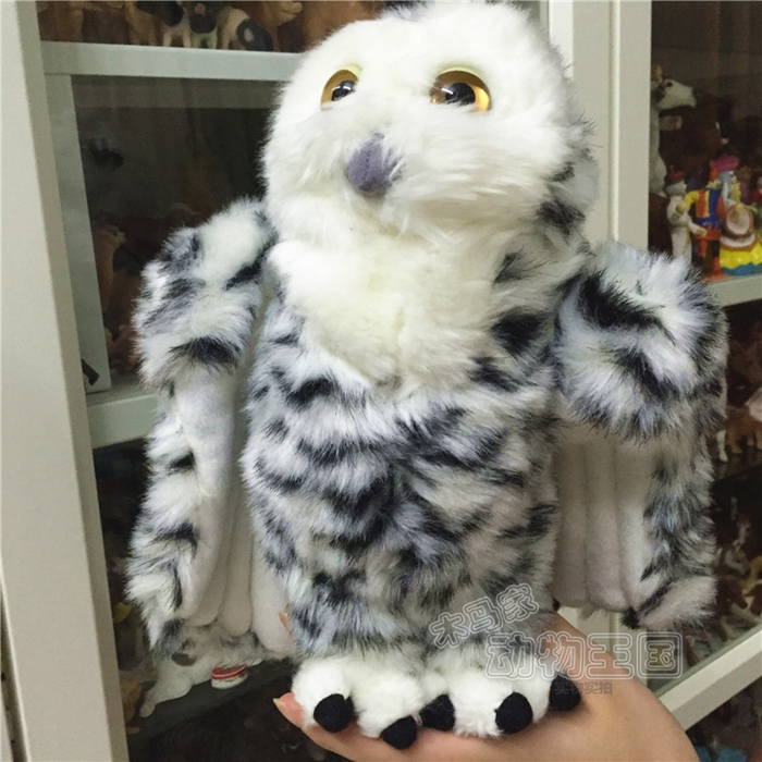 Good Quality Stuffed Animal Big Snow Owl Toy Simulation Plush  Doll Toys For Children Rare 40cm 50cm cute panda plush toy simulation panda stuffed soft doll animal plush kids toys high quality children plush gift d72z