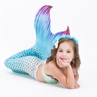 2018 Newest 3pcs Ariel The Little Mermaid Tail Costumes Kids Girls Mermaid Tails With Flipper Bikini