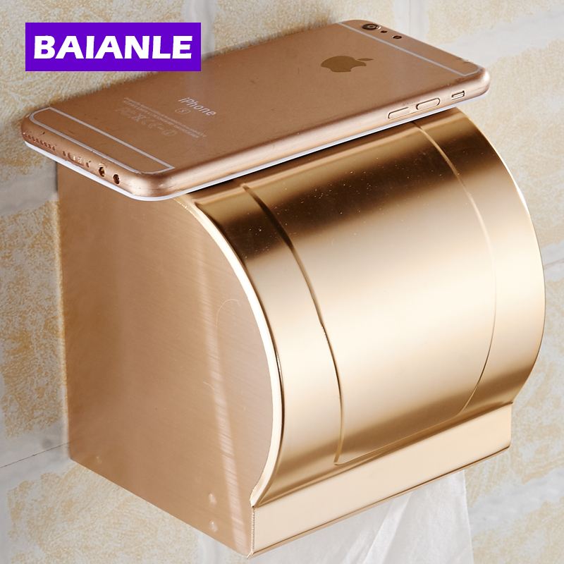 ФОТО Free Shipping Gold Toilet Paper Holder,Roll Holder,Tissue Holder,Solid Aluminum Bathroom Accessories Products