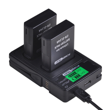 2x1500mAh EN EL14 EN EL14 EN EL14a 니콘 P7800,P7100,D3400,D5500,D5300,D5200,D3200,D3300,MH 24 용 배터리 + LCD 듀얼 충전기