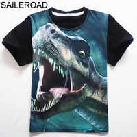 4-11 años de edad, niños, niños, pantalones cortos, remeras, camisetas, camiseta, adolescente de verano, niños, niñas, camiseta para el dinosaurio, camisas de verano SAILEROAD...