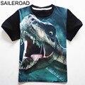 4 11 lat stare dzieci spodenki dla dzieci topy koszulki T Shirt lato nastolatek chłopcy dziewczęta T Shirt dla dinozaurów letnie koszule SAILEROAD w Koszulki od Matka i dzieci na