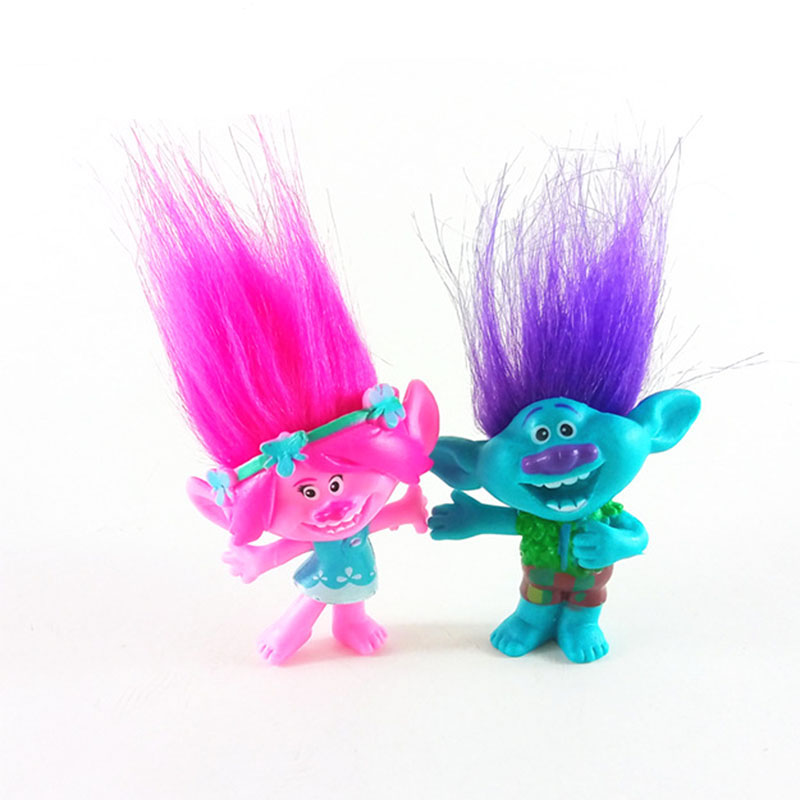 2pcs/lot Trolls figures poppy Branch action figure toy set 2017 New Movie Trolls figurine bobby doll birthday party oyuncak gift 1 6 scale figure doll jurney to the west monkey king with 2 heads 12 action figures doll collectible figure model toy gift