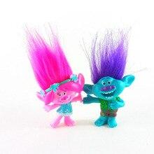 2 postavičky trlů s vlasy pro děti