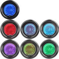 2 52mm Blue Red 7 Color Water Temp Temperature Car Digital LED Gauge Tint Len