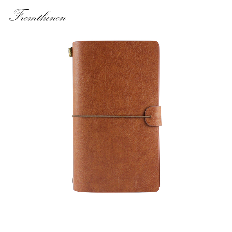 Fromthenon Vintage Travelers Notebook Personal Diary Planner 2018 Custom Stationery Retro Kraft Paper Grid Line Hand Note Note Book