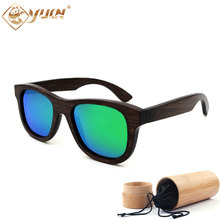 Fashion black bamboo sunglasses polarized handmade sun glasses men women fashionable wooden glasses sport eyewear oculos de sol