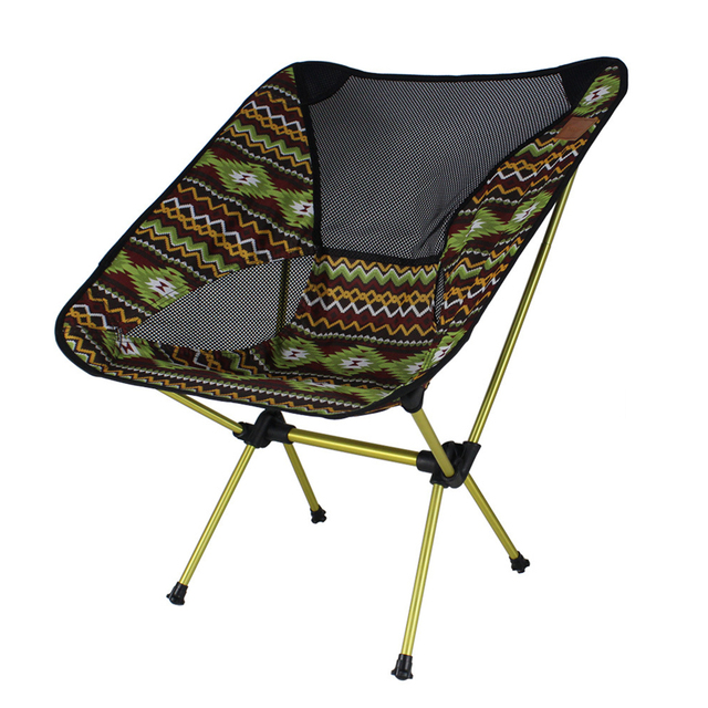 Outdoor Folding Casual Lounge Chair Portable Collapsible Chair For Fishing  Camping Traveling Bivouac Garden Beach