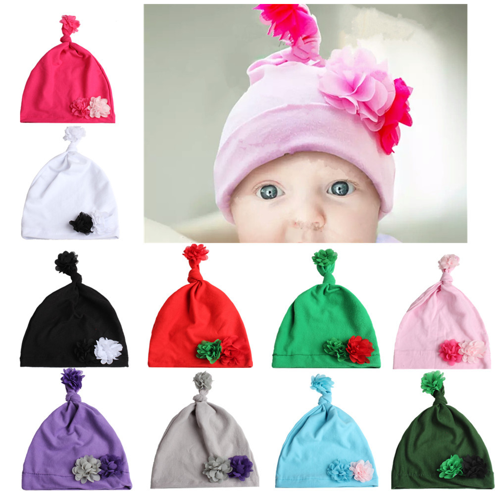 1 Stücke Knoten Baby Hut Baumwolle Jungen Kappe Frühling Herbst Baby Neugeborene Kleinkind Kinder Schlafen Hüte