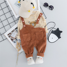 New Autumn Toddler Infant Clothing Sets Baby Boys Girls Clothes Suits Cartoon T Shirt Bib Pants Children Costume Kids Suit