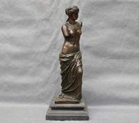 Bronze Women Lady Classic The Goddess Venus Art Sculpture Statue cigarette lighter cooking tools Decoration 100% Brass Bronze