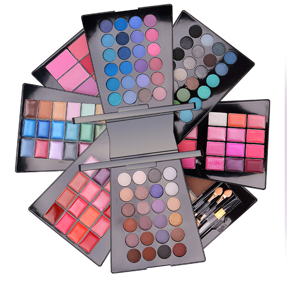 Professional 132 Color Makeup Eyeshadow Palette Cosmetic Eye Shadow Lip Gloss Concealer Combination Makeup Set Kit with Brush new arrival woman brand cosmetic makeup set multi function make up naked palette eyeshadow palette