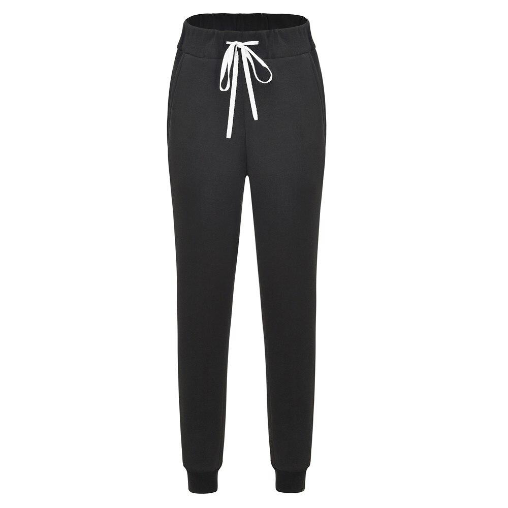 Women's streetwear casual loose breathable black pants sports yoga exercise pants jogging sports pants high waist pants Harem(China)