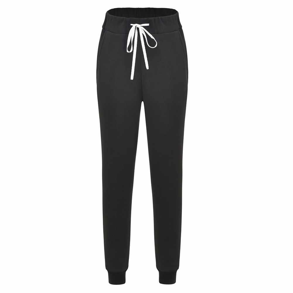 Women's streetwear casual loose breathable black pants sports yoga exercise pants jogging sports pants high waist pants Harem