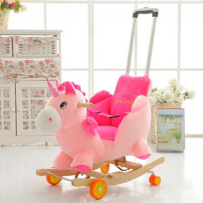children horse rocking horse wood rocking horse toy baby rocking chair dual purpose baby gift in. Black Bedroom Furniture Sets. Home Design Ideas