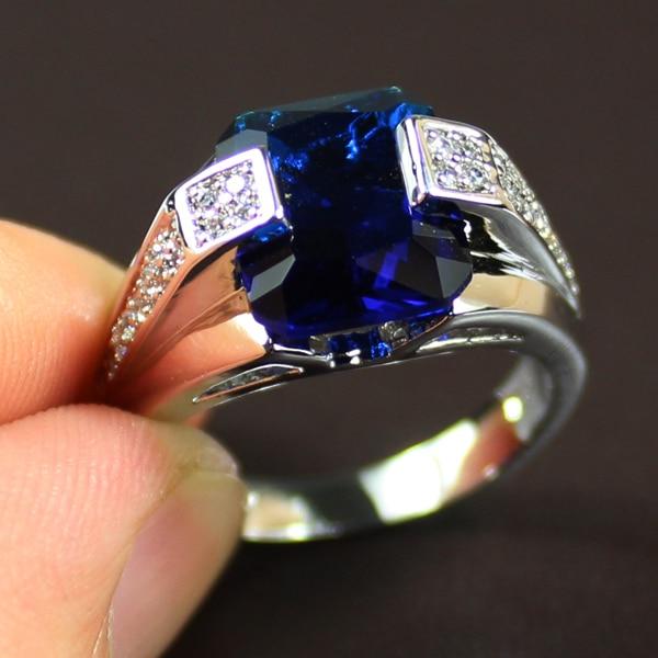 Buy MMDGEM Mens Luxury 925 Silver Blue