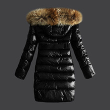 Women Winter Jacket Coat Real Raccoon Fur Hood Fashion Long Overcoat Thicken Warm Soft Jacket with