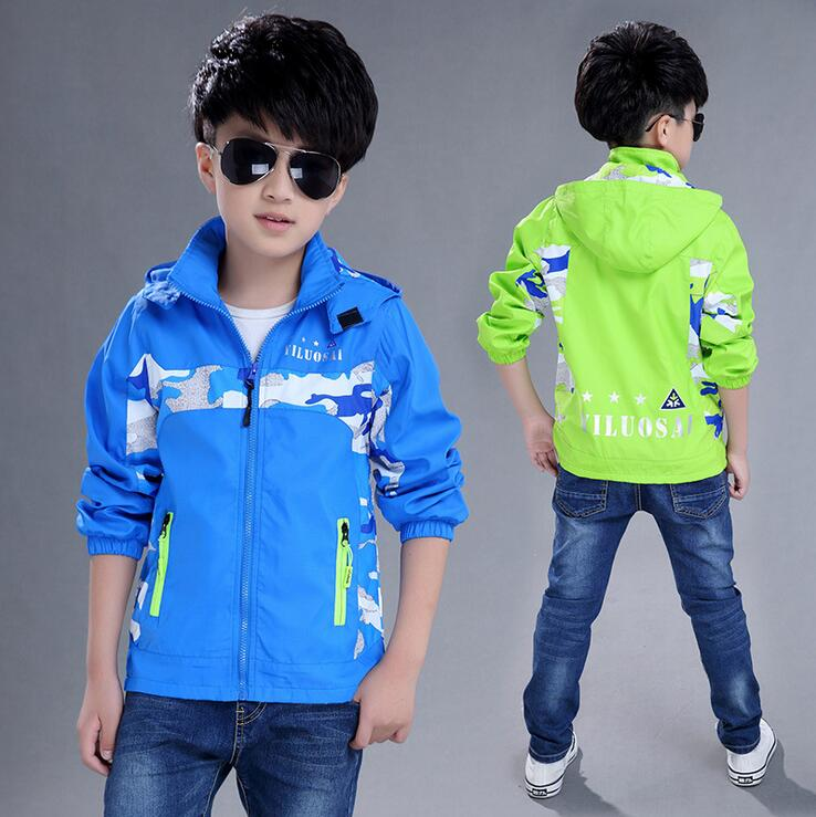 Children s wear Coat 2016 New Boys Jacket Spring Autumn Outdoor Mountaineering Clothing Kids Casual Outerwear