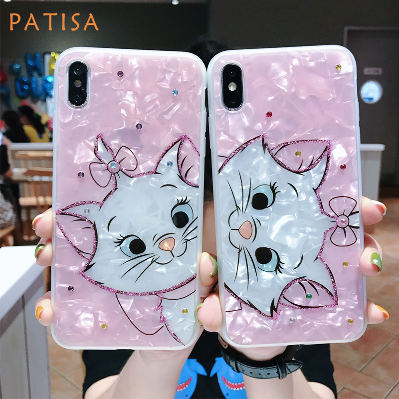 Mega Discount Fcb47 Cartoon Diamond Marie Cat Soft Silicone Phone Case For Iphone Xs Max Case Cute Pink Beautiful Cover For Iphone 6 6s 7 8 Plus X Nd Rankingrk Co