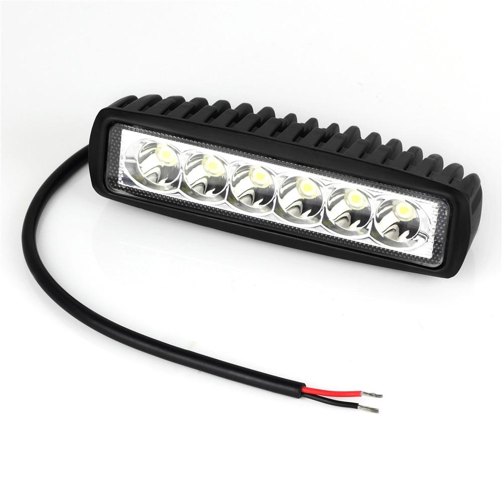 LED Spotlights Mini 18W 6 x 3W Car LED Light Bar Daylight White 6500K Waterproof Worklight for Boating Fishing Vehicles Proster