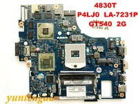 Original for ACER 4830T Motherboard P4LJ0 LA 7231P MBRGM02001 tested good free shipping connrecors