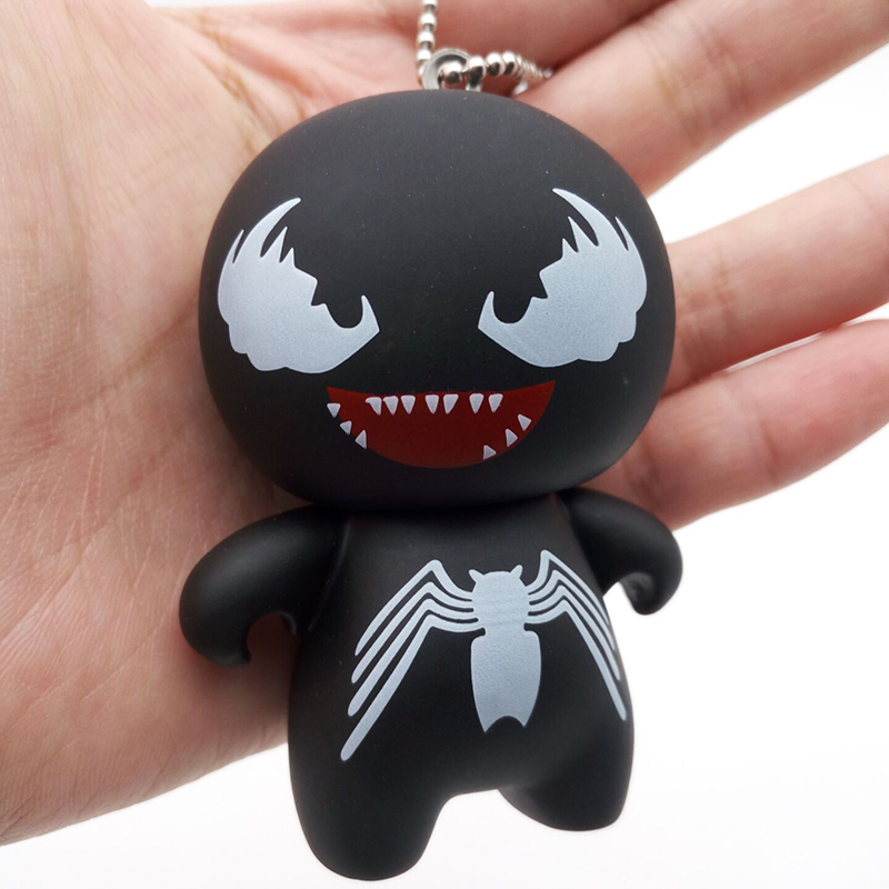 Marvel The Avengers Figures Superheros Red Spiderman Black Spiderman Venom Keychain Toys 2018 New Anti Venom Figurines Keyring image